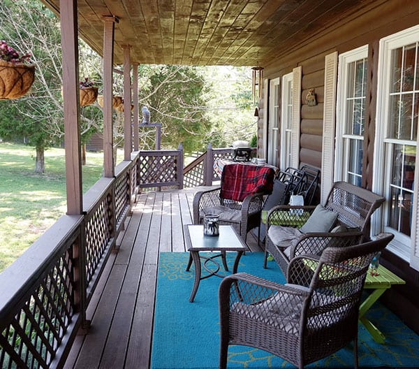 Wrap Around Porch Construction decking by roofing-pro